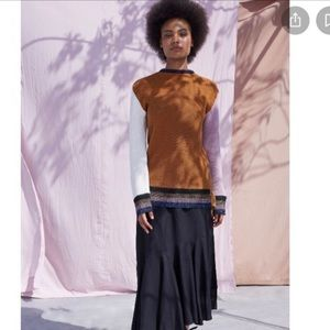 APIECE APART Almeria Sweater in Ochre Color Block